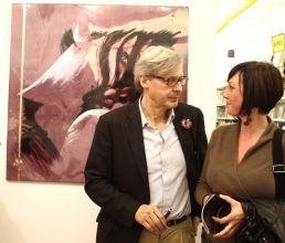 Vittorio Sgarbi e Valentina Azzini Evento Mostra d'arte Udine